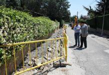 Daniel Pérez visita las obras de asfaltado
