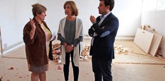 Alcalde de Galapagar y Concejala Urbanismo en las obras del edificio de Servicios Sociales