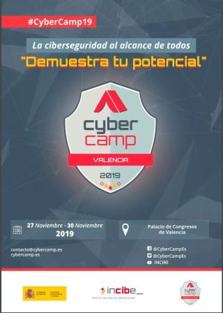Cartel CyberCamp 2019 - Valencia del 27 al 30 de noviembre 2019