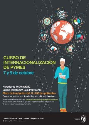Cartel Curso de Internacionalización de pymes. Torrelodones 7 y 9 de octubre 2019