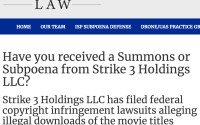 Strike 3 Holdings ISP Subpoena