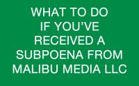 Malibu Media Lawsuit Information