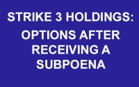 Options for Strike 3 Holdings Lawsuit