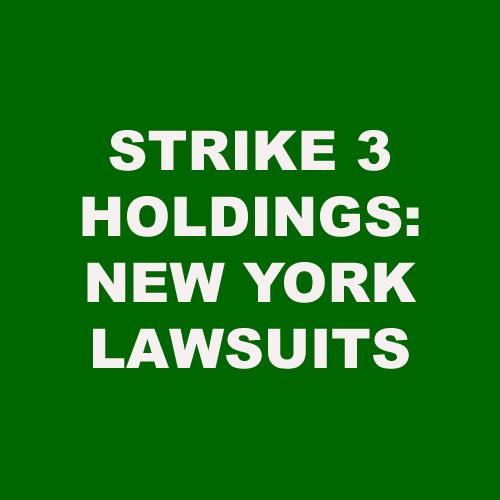 Strike 3 Holdings Files in New York | Torrent Defenders