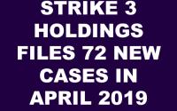 Strike 3 Holdings LLC Subpoenas April 2019