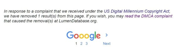 google removed