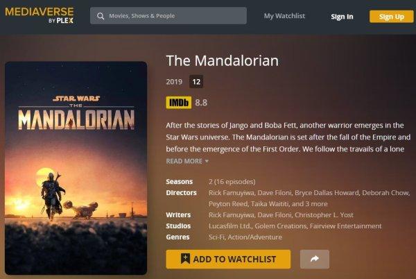 mandalorian plex page