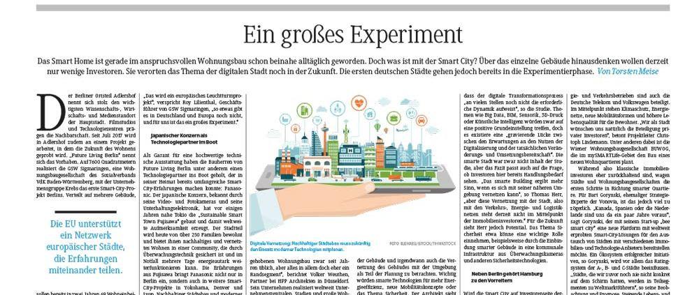 FAZ_29.09.17 Ist die smarte Stadt interessant für Investoren?