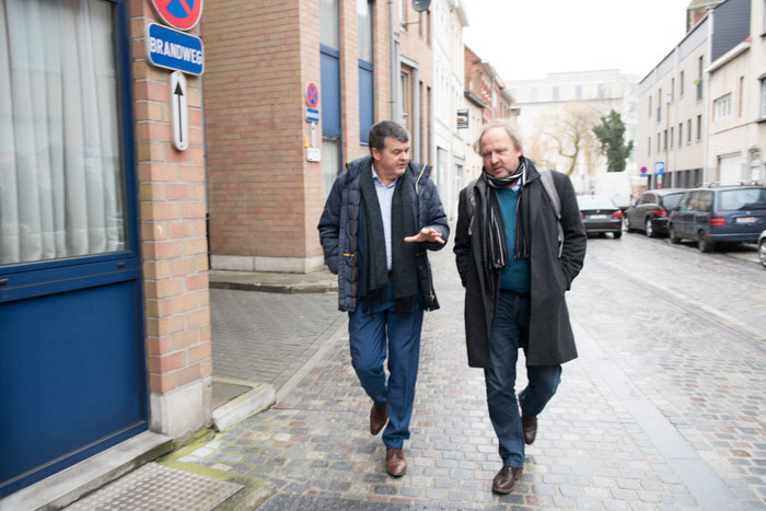 Mit Bart Somers in Mechelen | © Achim Multhaupt