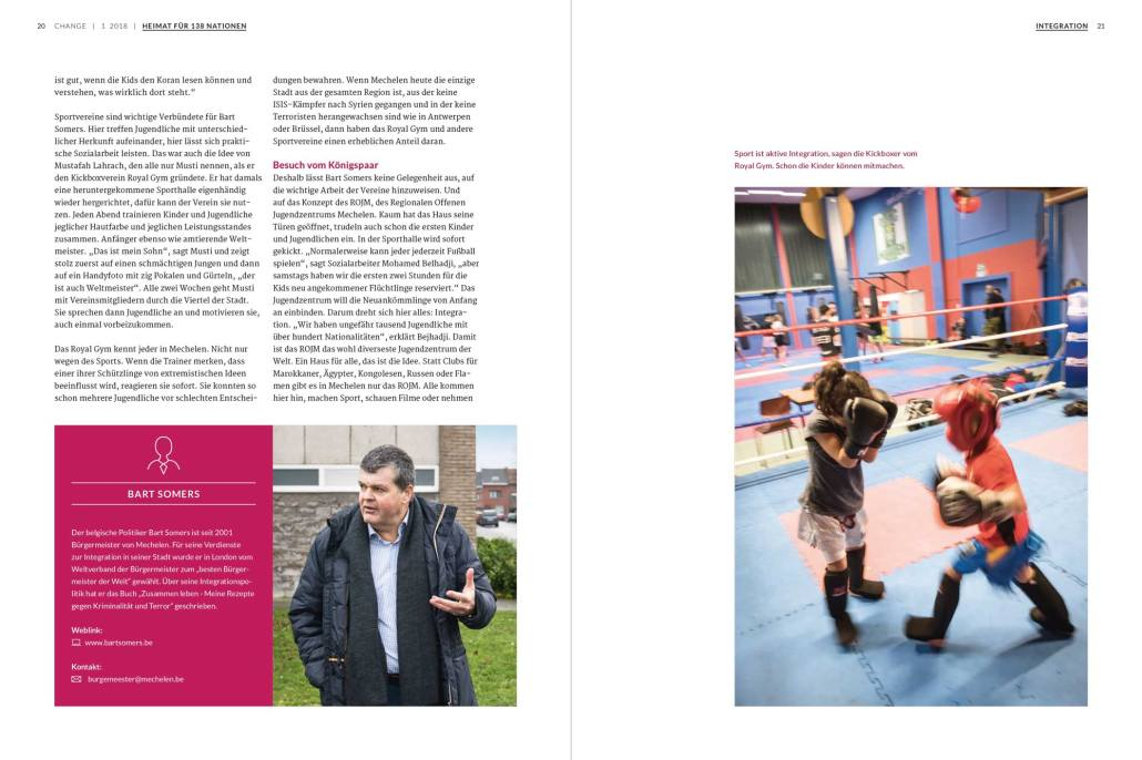 Change Magazin: Reportage Mechelen