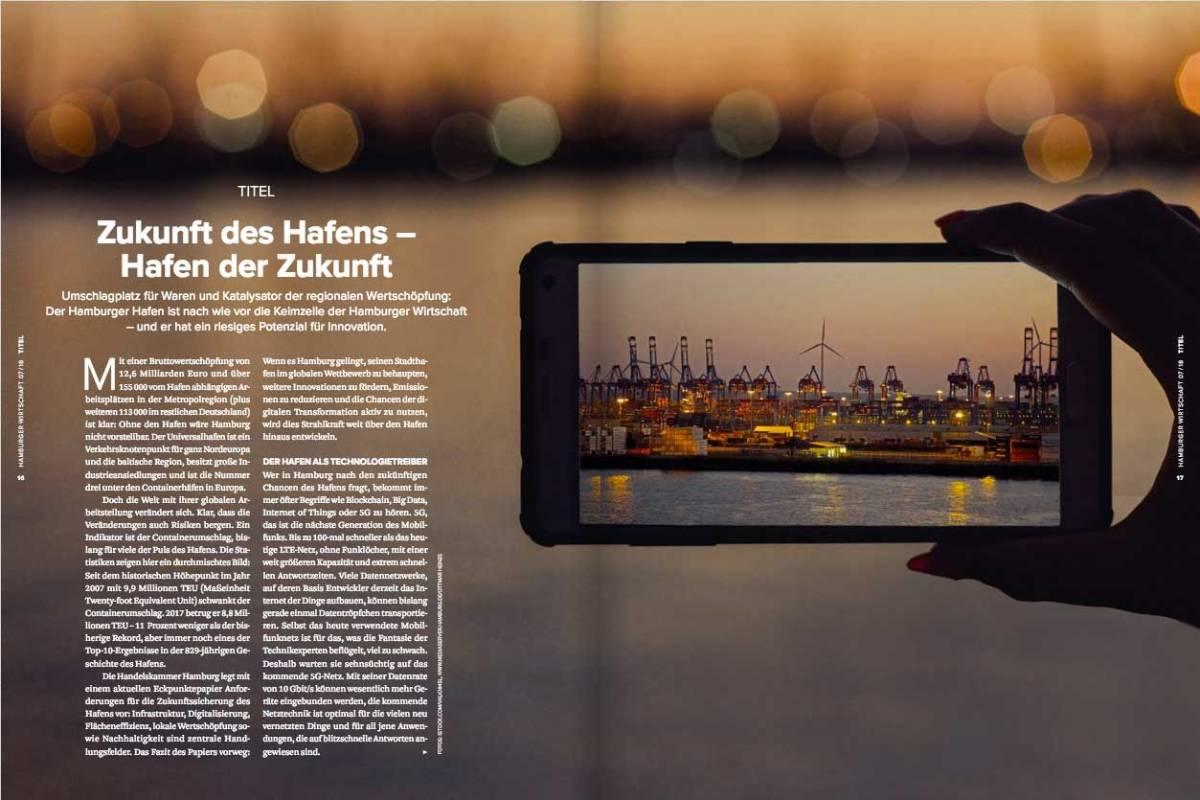 Der Hamburger Hafen als Technologiestandort mit Zukunft