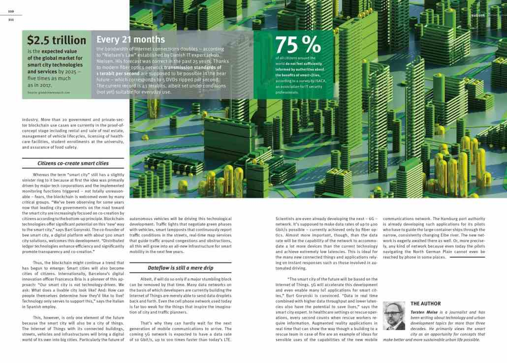 Städte im Netz der Dinge, Torsten Meise. Tomorrow-Magazin, Schaeffler Gruppe