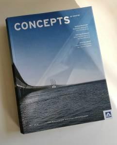 Titel Cover Kundenmagazin concepts by Hochtief Ausgabe 2/2018 Chefredaktion Torsten Meise