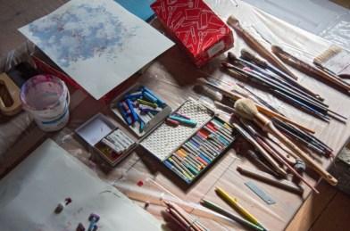 Ulrike Seyboth, Atelieransicht