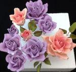 Nagy cukorpaszta rózsa készítése képes segítséggel