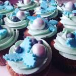 Hogyan készült? Kék kari ehető dekorok