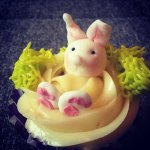 Húsvéti cupcake díszítés, fű készítése