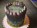 Szórócukros, dupla töltelékes szülinapi torta pasinak!