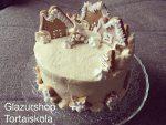 Mézes fűszeres karácsonyi torta, vaníliás mézes krémmel, mennyei