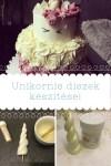 Unikornis torta alkatrészek készítése
