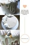 Nutellás mogyorós habcsókos torta arany fóliás díszítéssel
