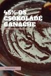 45%-os csokoládé ganache receptem