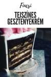Tejszínes gesztenyekrém, tortába