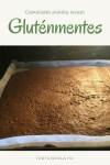 Gluténmentes csokoládés piskóta, mousse tortákhoz