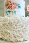 Fodros esküvői tortadíszítés, videós segítséggel