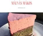 Málna habos mákos torta