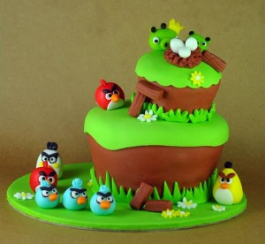 Tortas decoradas de Angry Birds (4)