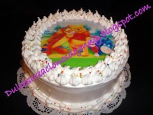 Tortas decoradas con merengue italiano (2)