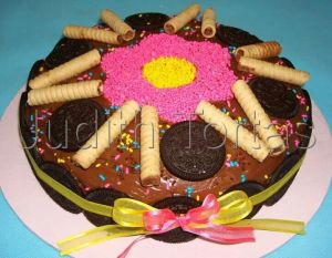 Tortas decoradas con galletitas (2)