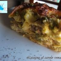 Lasagne al cavolo romanesco e salsiccia