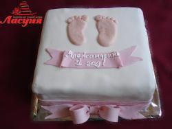 #д140(5) торт на 1 годик для девочки