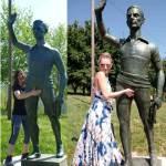 Toccare il pantaloncino alla Statua di Fausto Coppi porta fortuna