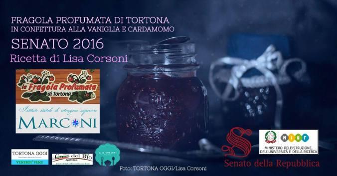 venerdì pesce. La fragola profumata di Tortona in confettura alla vaniglia e cardamomo. Ricetta di Lisa Corsoni per Senato 2016