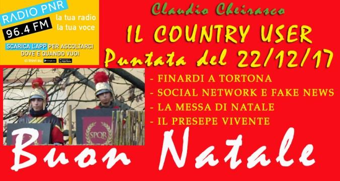Il Country User di Radio PNR Tortona puntata del 22/12/2017