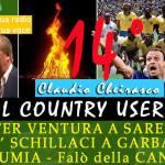 Il mister Ventura e Totò Schillaci sui colli del Country User