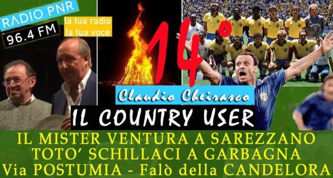 Claudio Cheirasco il 14° country user su Radio PNR Tortona