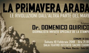 La primavera araba, convegno a Sale con Domenico Quirico