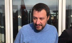 Matteo Salvini contestato all'Ilva di Novi Ligure