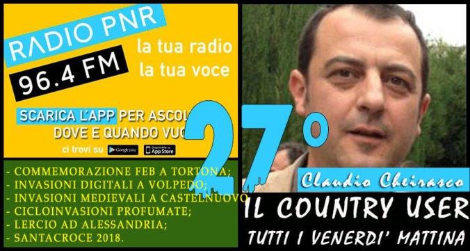 Claudio Cheirasco il country user puntata n. 27