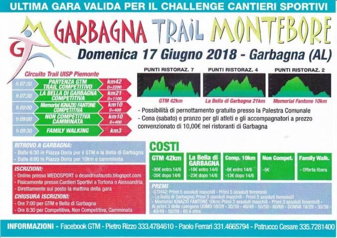 Grabagna Trail Montebore, competitiva da 42 e 21 chilometri