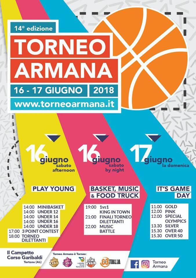 Calendario del torneo armana del 16 e 17 giugno 2018 a Tortona