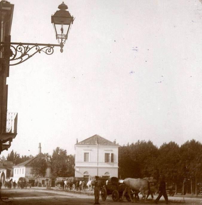 Foto d'epoca Tortona primi del '900 Bar Gambrinus