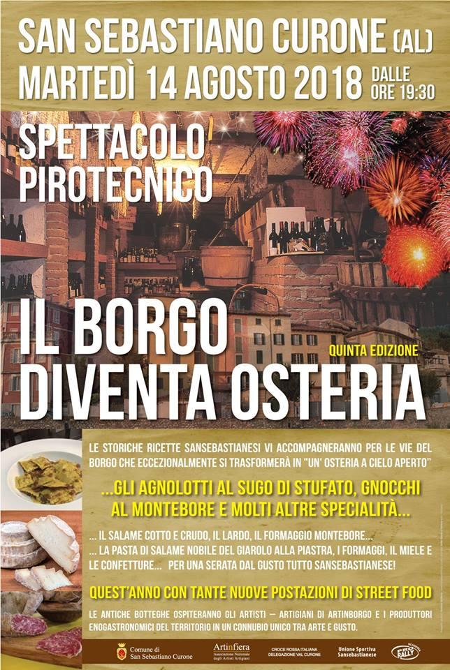 Il Borgo diventa Osteria 2018