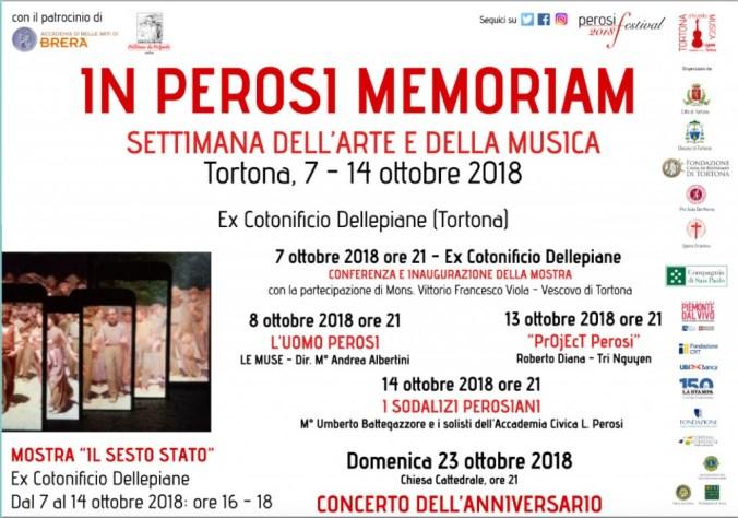 Calendario delle manifestazioni autunnali del Festival Perosi di Tortona