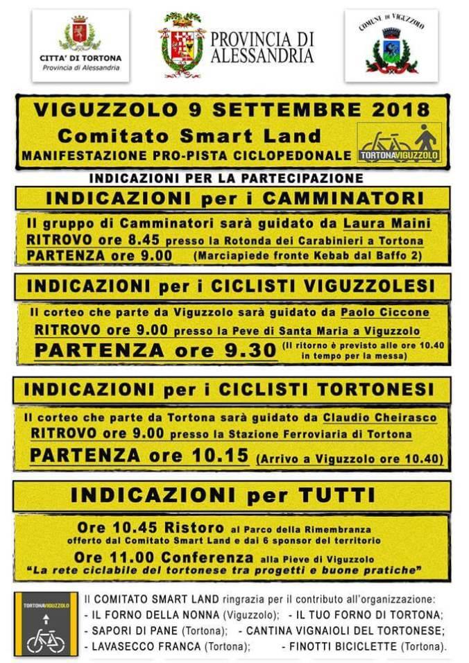 Tutti i modi per partecipare alla Manifestazione pro-pista ciclabile tortona Viguzzolo